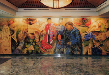 Amcult web project cesar chavez for Cesar chavez mural