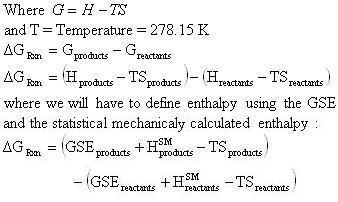 ... for the heat of reaction into the Gibbs free energy change equation