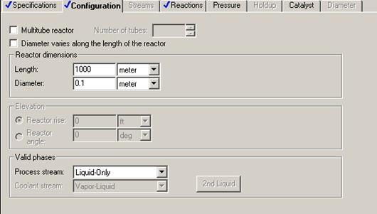 unisim how to set reactor temperature
