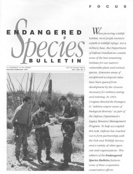 Link to the USFWS's Endangered Species Bulletin