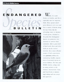 Link to the USFWS Endangered Species Bulletin