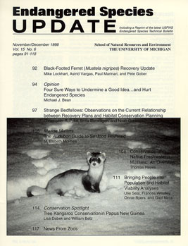 Clickable Image of the November/December 1998 Issue Cover