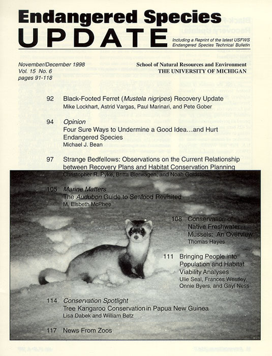 November/December 1998 Issue Cover