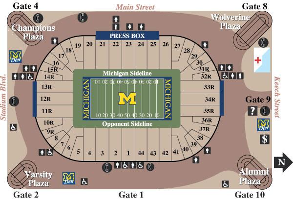 Stadium Seating Diagram