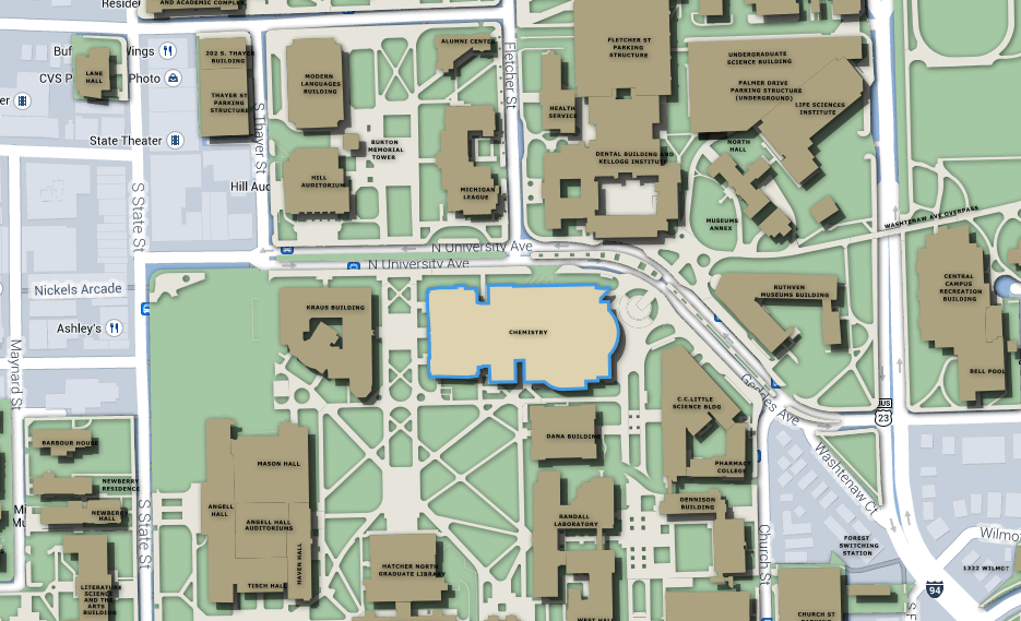 U Michigan Campus Map.2014 Midwest Carbohydrate And Glycobiology Symposium