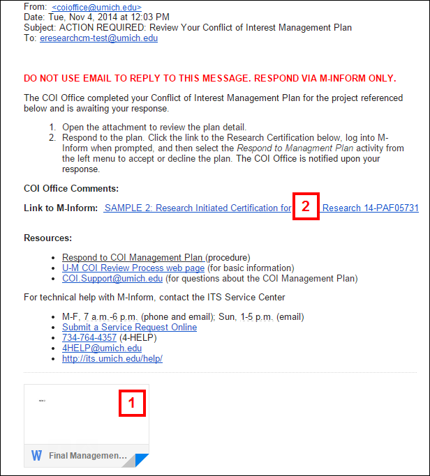 Respond to a coi management plan email from coi office to discloser pronofoot35fo Images