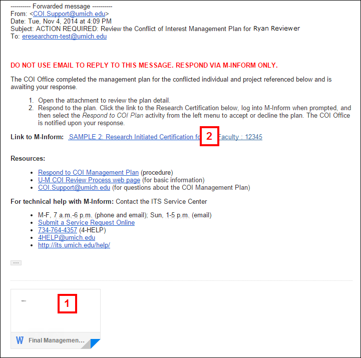 Respond to a coi plan email from coi office pronofoot35fo Images